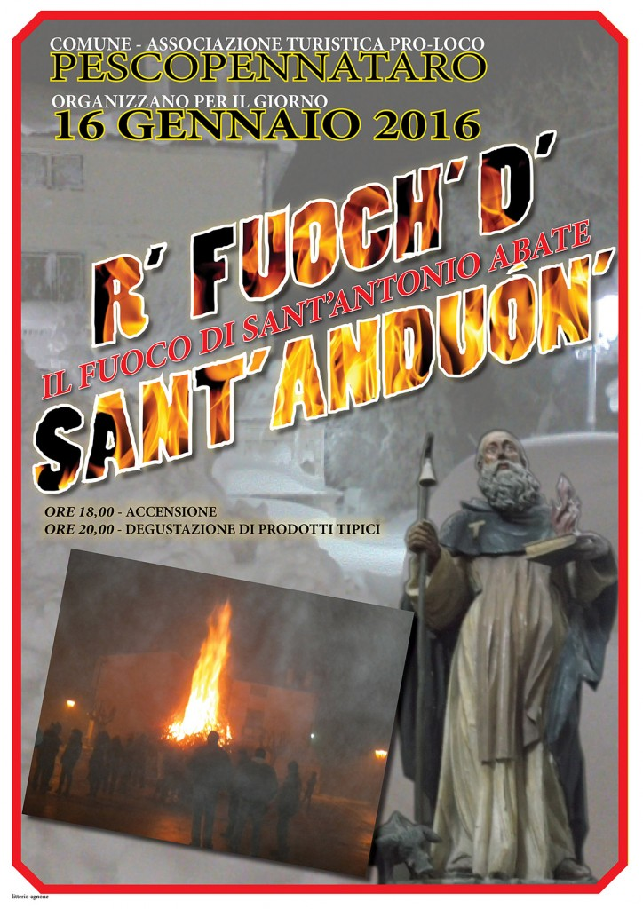 Fuoco di Sant'Antonio - Pescopennataro 16-01-2016